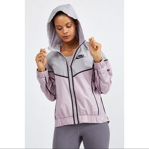 Nike Grey + Purple Windrunner Jacket